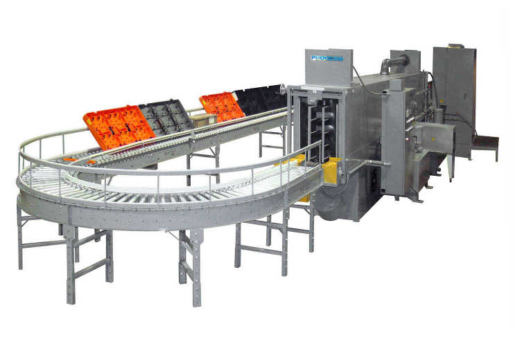 Tray washer machines offer the washing and drying of plastic trays, totes and dunnages in a fully automated process